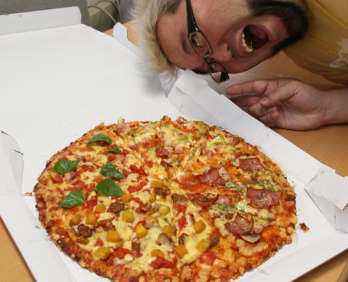 ピザと周二郎