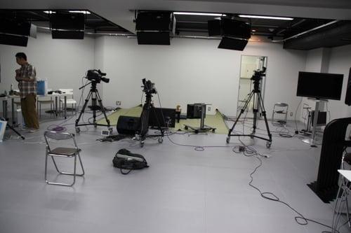 スタジオはこんな感じ