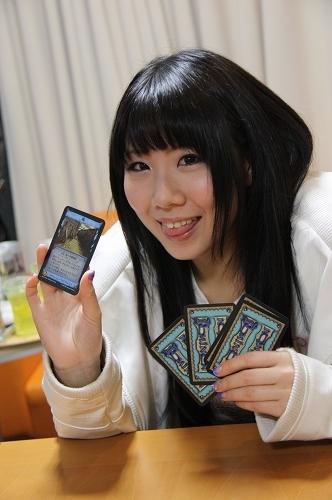 早瀬弥生さんと「堀」カード