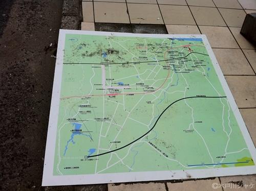 駅の案内板(JR富岡駅)