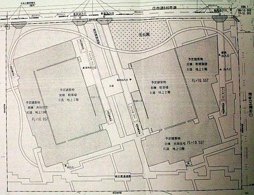 朝霞公務員宿舎計画図