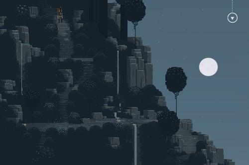 月は現実の月の満ち欠けとリンクして輝いています