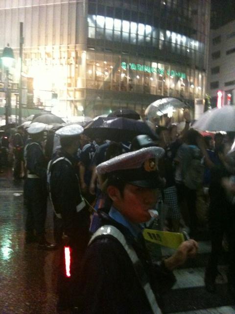 渋谷に警察