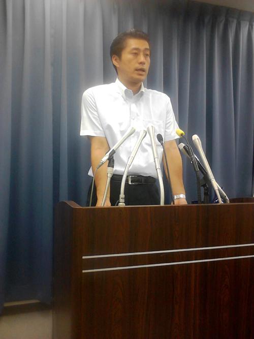 7月15日細野大臣記者会見