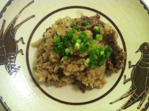 【炊き込みごはん レシピ】牛肉と粒マスタードの炊き込みごはん