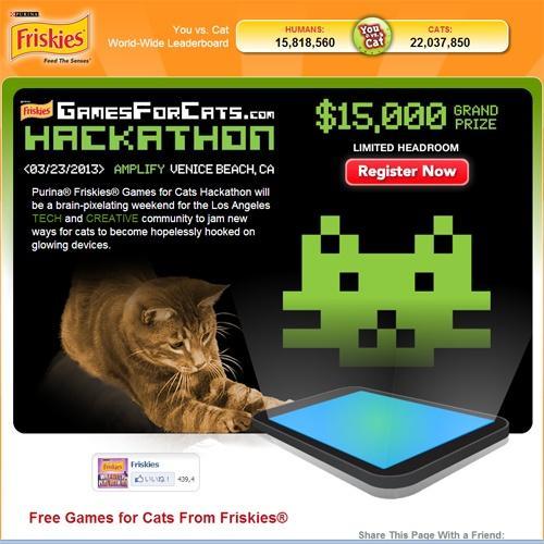 """フリスキーが""""猫のためのゲーム""""開発コンテストを開催"""