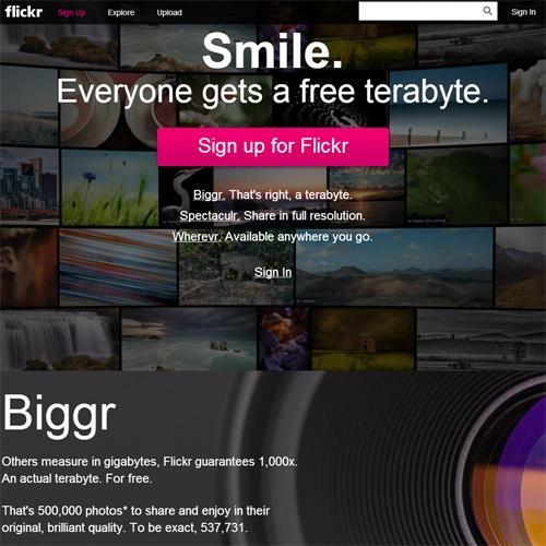 写真投稿の『Flickr』が無料で1テラ 一方でプロユーザ冷遇