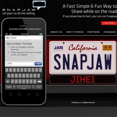クルマに好きなメッセージ 世界初のデジタルステッカー 『SNAPJAW』