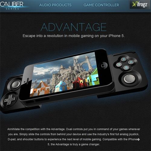 iPhoneがあのゲーム機に変身? ゲームコントローラー『Caliber Advantage』が発表される