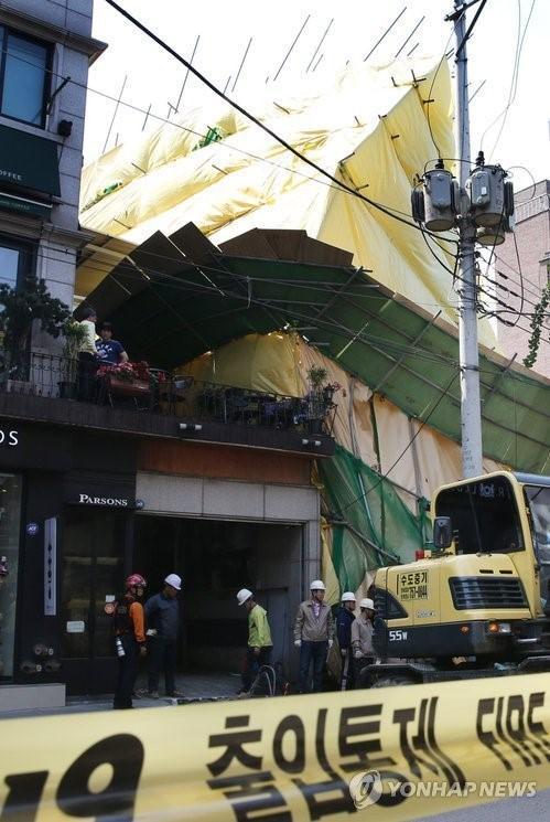 ソウルのビル崩壊