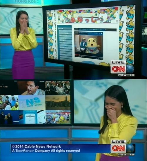 CNN ふなっしーで爆笑するアナウンサー
