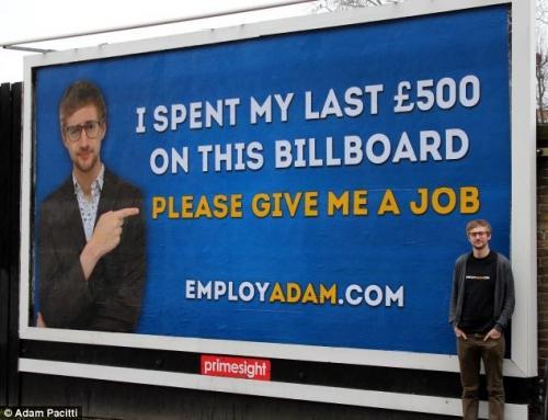 【就活生必見】僕を雇って 〜ロンドンのど真ん中に看板を立てちゃった