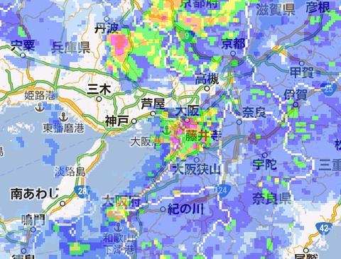 日本全国対応!雨の状況をGoogleマップと重ねて確認できる「雨雲マップ (mini)」【Androidアプリ】