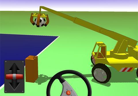 """有时篮球!有时打保龄球? !一个有点奇怪的起重机汽车模拟器""""可能的小起重机""""[iPhone应用程序] [iPad应用程序]"""