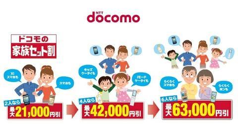 NTTドコモ、関東・甲信越限定でスマートフォンやケータイを複数台購入時に端末代金を割り引く「ドコモの家族セット割」キャンペーンを開始