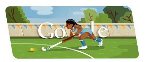 本日のGoogleロゴはフィールドホッケー Googleロゴがスポーツ関連画像に変化第三弾