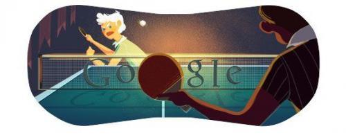 本日のGoogleロゴはテーブルテニス Googleロゴがスポーツ関連画像に変化第四弾