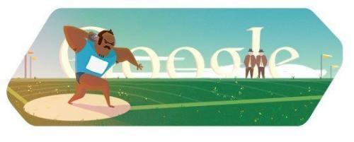 本日のGoogleロゴは砲丸投 Googleロゴがスポーツ関連画像に変化第五弾