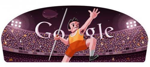 本日のGoogleロゴはやり投 Googleロゴがスポーツ関連画像に変化第七弾