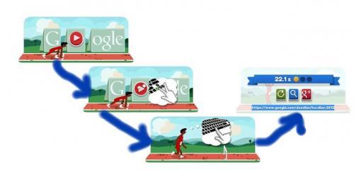 本日のGoogleロゴはプレイ可能なハードル Googleロゴがスポーツ関連画像に変化第八弾