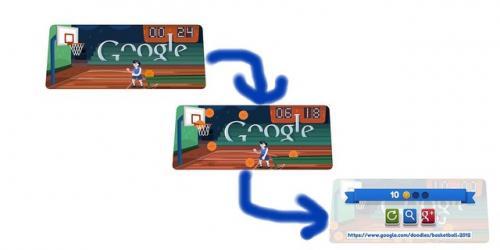 本日のGoogleロゴもプレイ可能! Googleロゴがスポーツ関連画像に変化第九弾