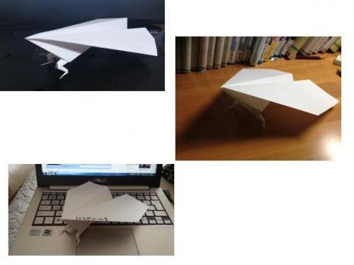 紙飛行機に足が! 思わず作ってみたくなる足の生えた紙ヒコーキ