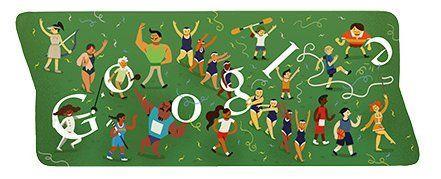 オリンピック最終日ロゴは閉会式! Googleロゴがスポーツ関連画像に変化第十三弾