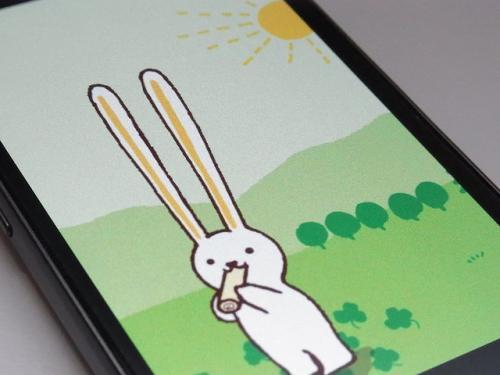 耳が長~い可愛くて美味しい(んっ?)ロールちゃんのライブ壁紙でほんわかしよう♪「ロールちゃんライブ壁紙」【Androidアプリ】