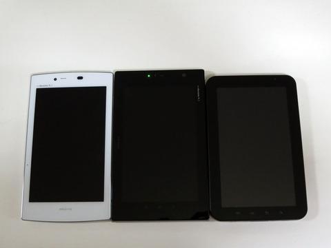 """我试着堆叠Meditab!与各种平板电脑和""""iPhone 5""""等相比,检查""""MEDIAS TAB UL N-08D""""的轻薄性。[评论]"""