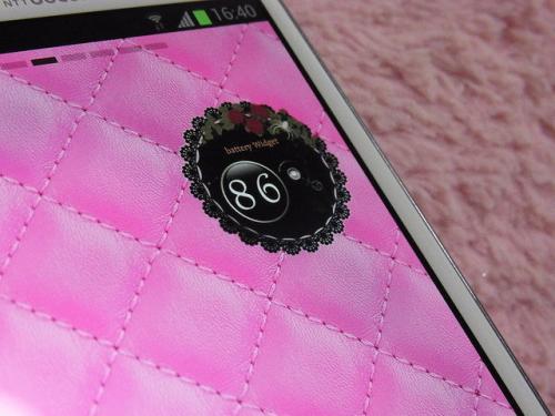 """让我们把智能手机上剩余的电池变成一个少女可爱的小部件♪""""电池小工具 - 女性""""[Android app]"""