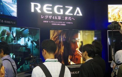 東芝、発表したての「レグザZ7シリーズ」を大々的に展示【CEATEC JAPAN 2012】