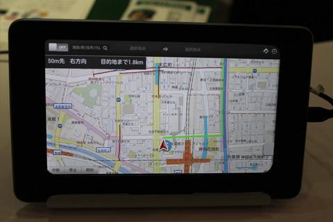 【CEATEC JAPAN 2012】NAVITIMEブース、HTML5を利用したWebブラウザ上で動作するカーナビゲーションシステムを参考出展
