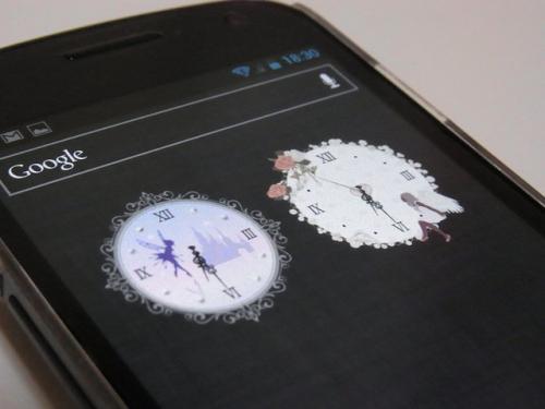 キュート?大人ガーリー?フェミニン?時計をチェンジして女子力アップ♪「*sweet* 秒針つきアナログ時計ウィジェット free」【Androidアプリ】