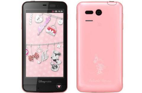 ディズニー・モバイル、コンセプトはミニーのAndroidスマートフォン「DM013SH」を発表!防水・ワンセグ・おサイフケータイにも対応