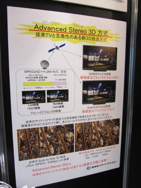これで3Dのテレビ放送が本格化するか? NHKの新方式Advanced Stereo 3D【デジ通】
