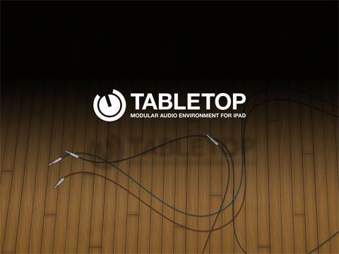 【シンセやリズムマシンをエフェクターやミキサーに配線して楽しめるiPad用ヴァーチャルスタジオアプリ「Table Top」特集】