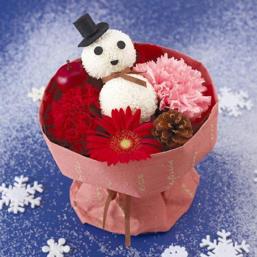 クリスマス気分を盛り上げる「ダンディ雪だるまのブーケ」を3名様にプレゼント