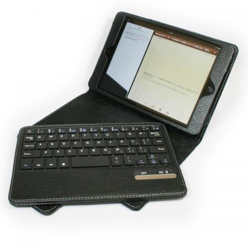 入力環境を快適化 iPad mini用レザーケース付きBluetoothキーボード【イケショップのレア物】