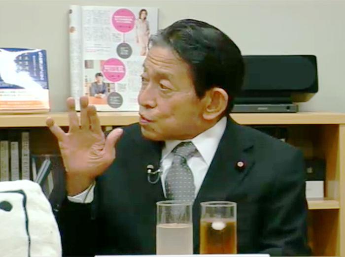 参議院議長の西岡武夫氏