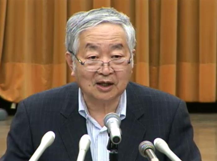 畑村洋太郎委員長(東大名誉教授)