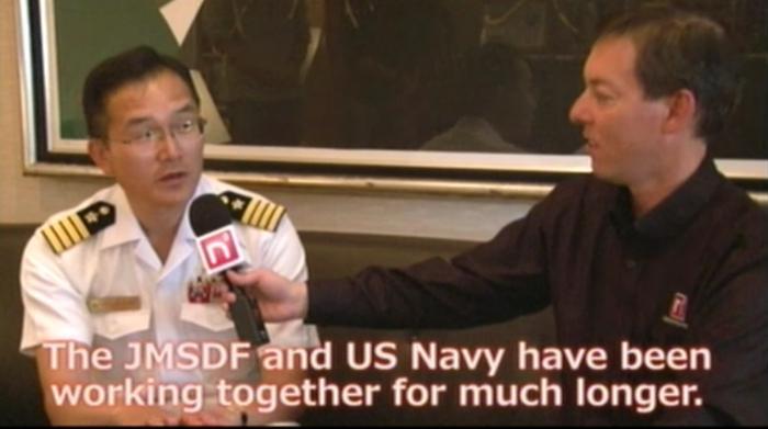 上自衛隊練習艦隊の旗艦「かしま」の柏原艦長