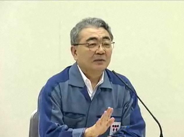 東京電力本社で就任記者会見を行った西沢俊夫社長