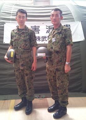 岩熊真司隊長(写真左)と菱沼和則隊長(同右)