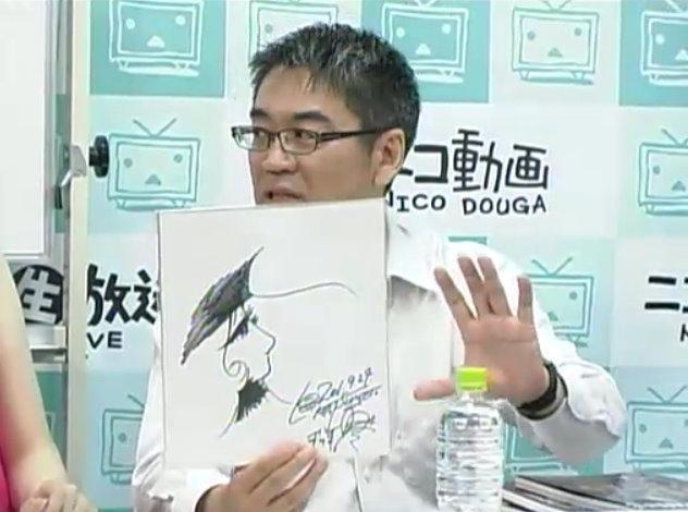 角川書店代表取締役社長で、アニメ雑誌『ニュータイプ』の元編集長の井上伸一郎氏