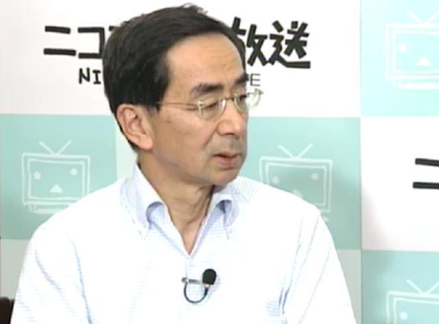 福井県からのニコニコ生放送に出演した西川一誠福井県知事