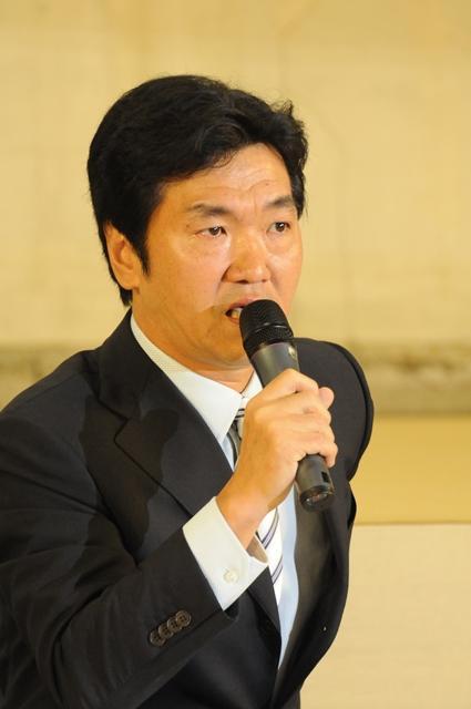 引退会見を行った島田紳助さん