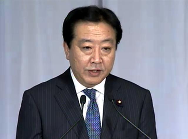 第95代首相に選出された野田民主党代表