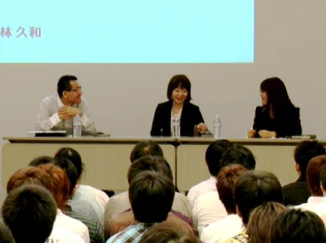 スクウェア・エニックスの宮脇氏(左)、ポリゴンマジックの松井氏(中央)、フロム・ソフトウェアの立野氏(右)