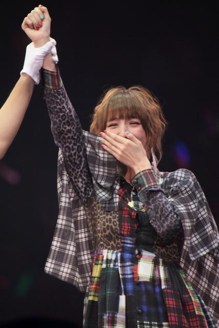 優勝した篠田麻里子