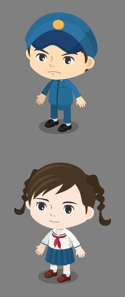 スタジオジブリの最新映画「コクリコ坂から」の主人公たちが2頭身のキャラクター「ピグ」になって登場